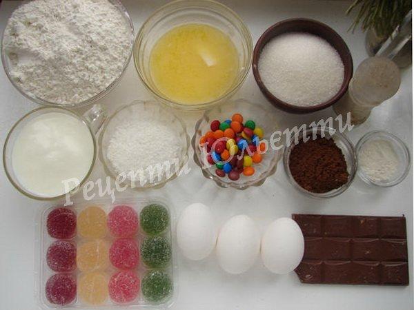 інгредієнти для тортика