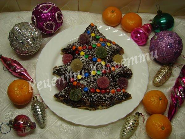 торт у вигляді ялинки