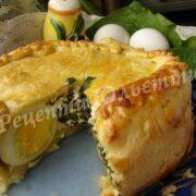 пиріг з яйцем та шпинатом